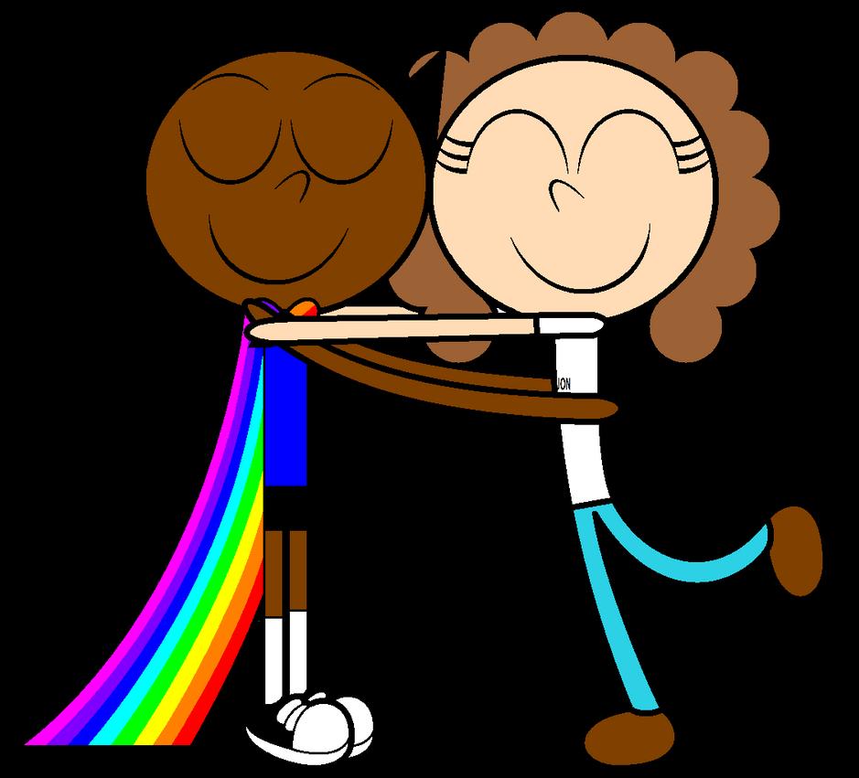 Super Markie And Jon Rousseau Hug Each Other