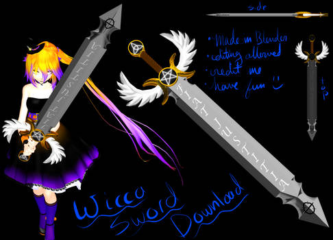 MMD Wicca Sword DL
