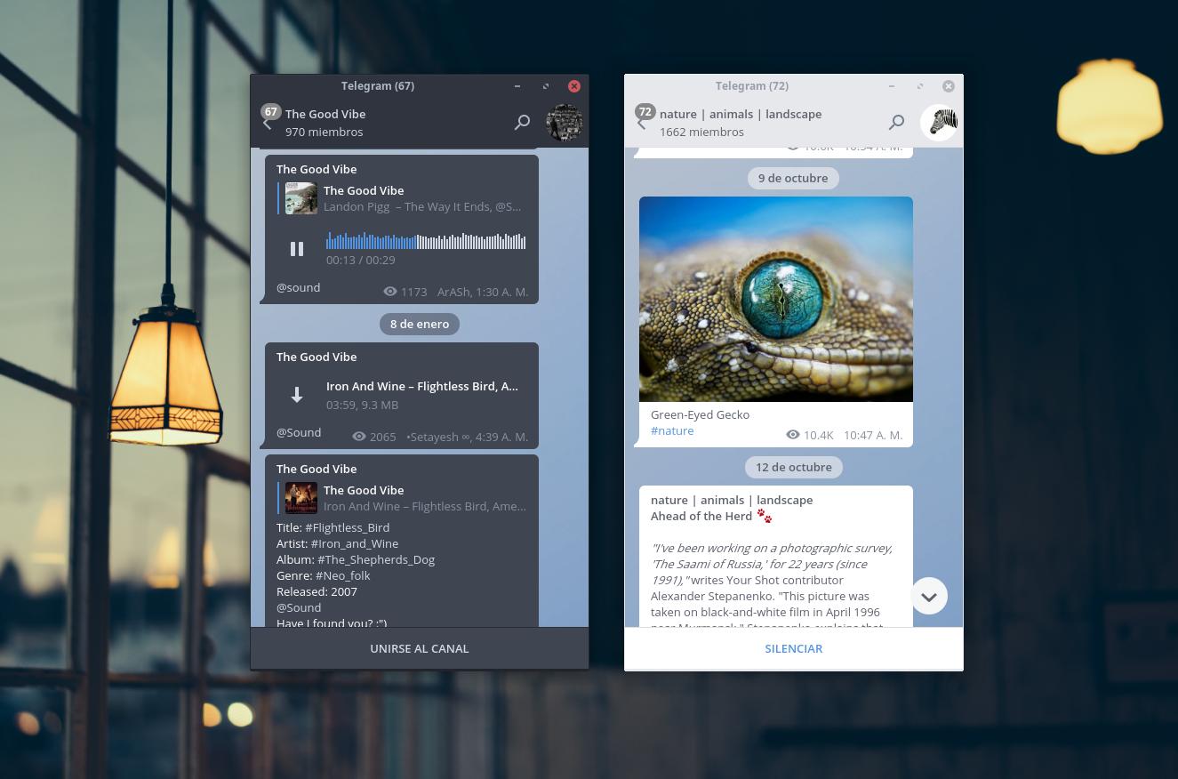 Arc-2 theme for Telegram
