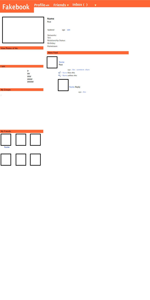 Fakebook Template by Yudhaikeledai on DeviantArt