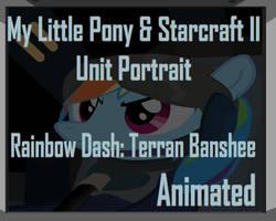 Rainbow Dash and Starcraft Banshee Unit Portrait by Yudhaikeledai
