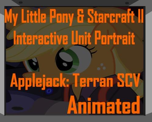 Applejack and Starcraft SCV Unit Portrait