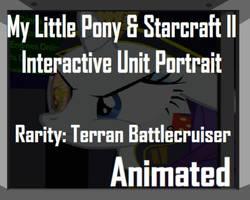 Rarity and Starcraft Battlecruiser Unit Portrait by Yudhaikeledai