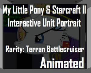 Rarity and Starcraft Battlecruiser Unit Portrait