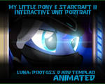 Luna and Starcraft Dark Templar Unit Portrait