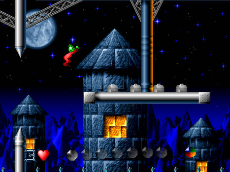 Graphics for the Moon Child platform game