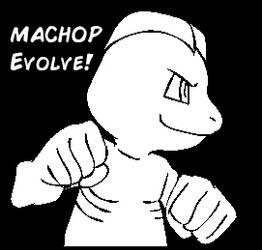 Machop Evolve! ANIMATION