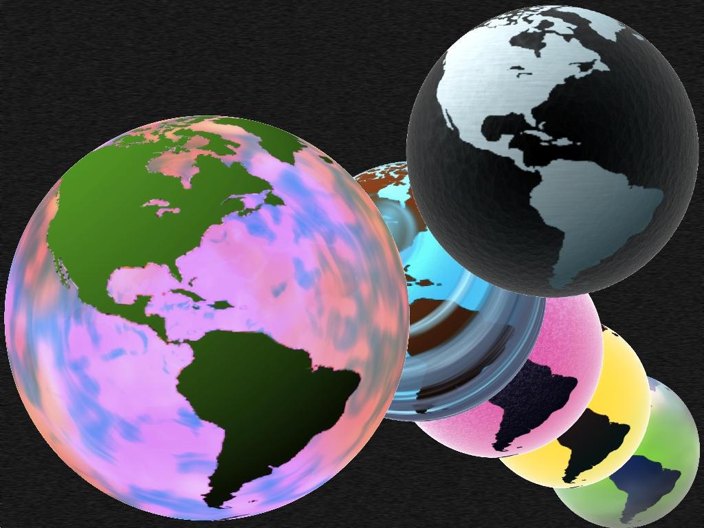 Summer Glass Globe Amerika PSD by taketo