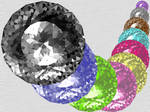 Shining Diamond Top View ICONS