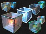 Midnight Aqua Quad. Cube Icons