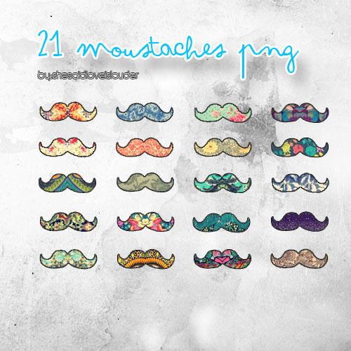 Moustache PNG by shesaidloveislouder