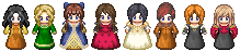Rennaissance Ladies Sprites by MiatheRabbit