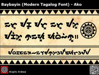 Baybayin MTF - Ako by plus24seven