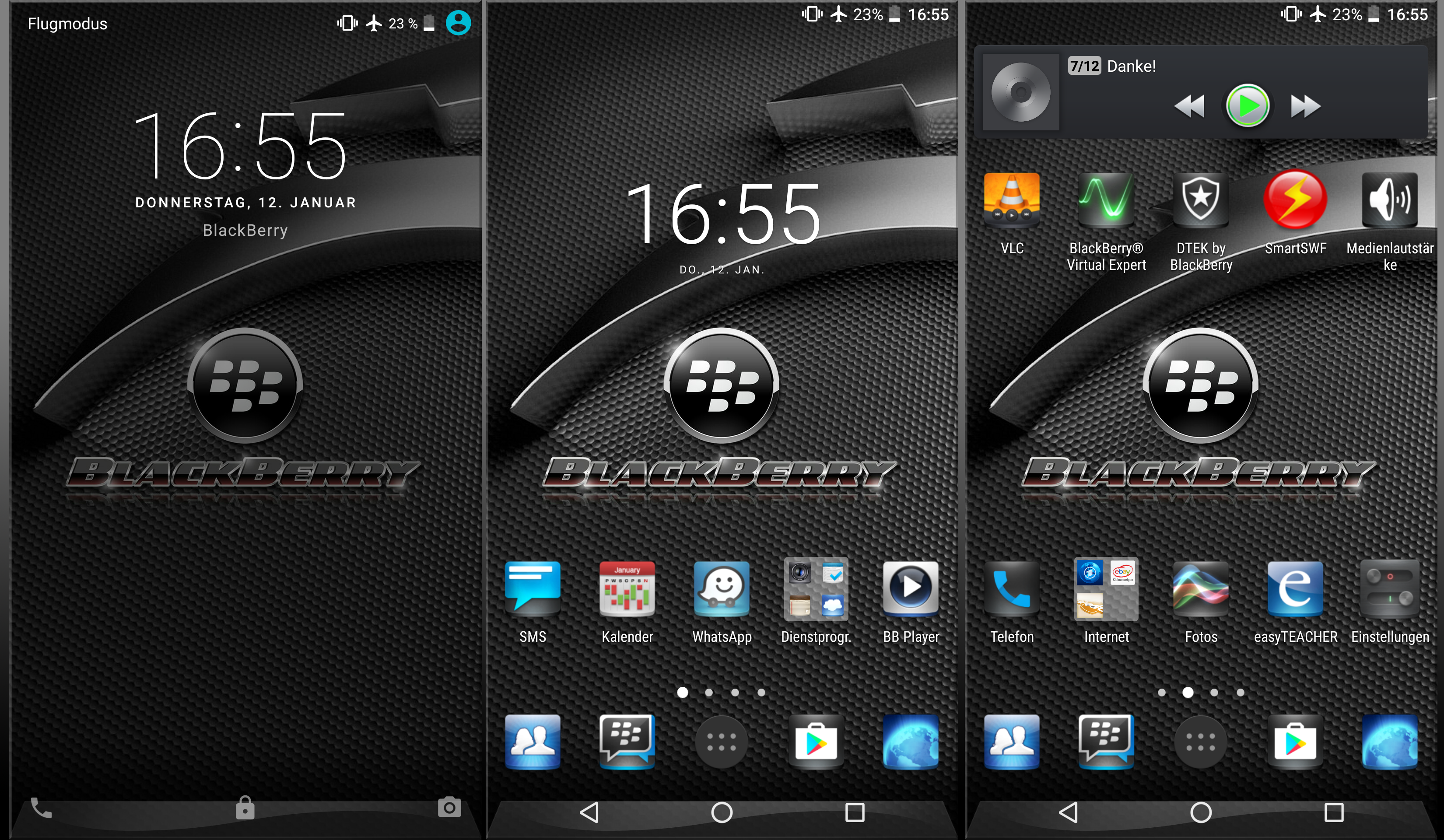 BlackBerry Key 2 Wallpapers: BlackBerry Wallpaper V2 For DTEK50 And DTEK60 By