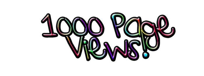 1000 Page Views
