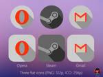 Three flat icons (FREE)