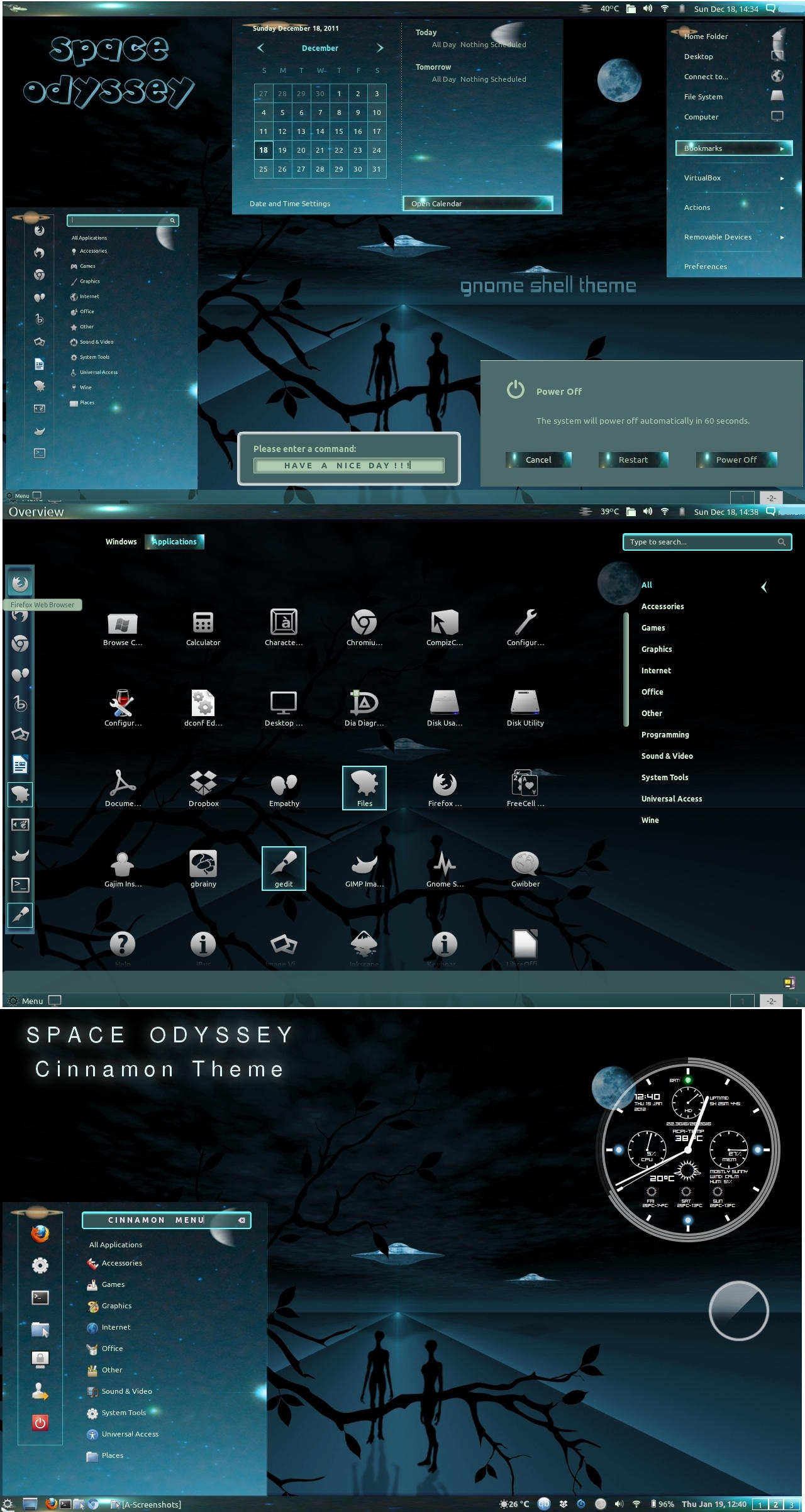 Space Odyssey - Gnome Shell n Cinnamon Theme by rvc-2011