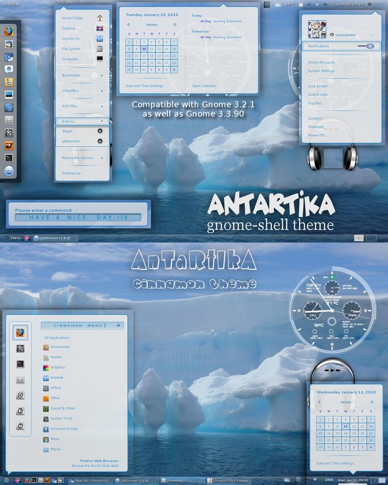 AnTaRtIkA - gnomeshell and cinnamon theme by rvc-2011