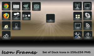 Icon Frames : Set of Dock Icons in PNG