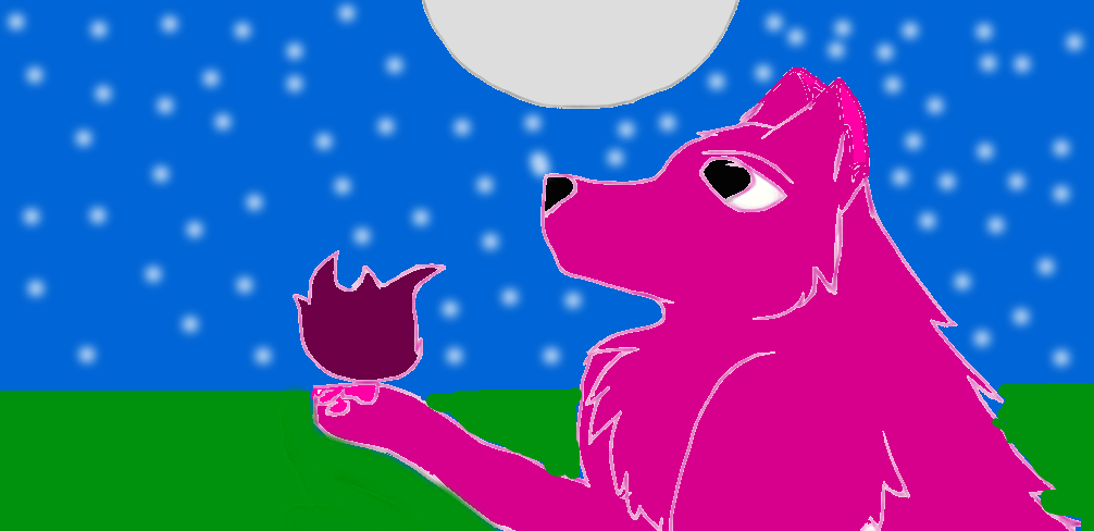 wolf ( redraw of my first drawing) by FlameBerryTheWolf
