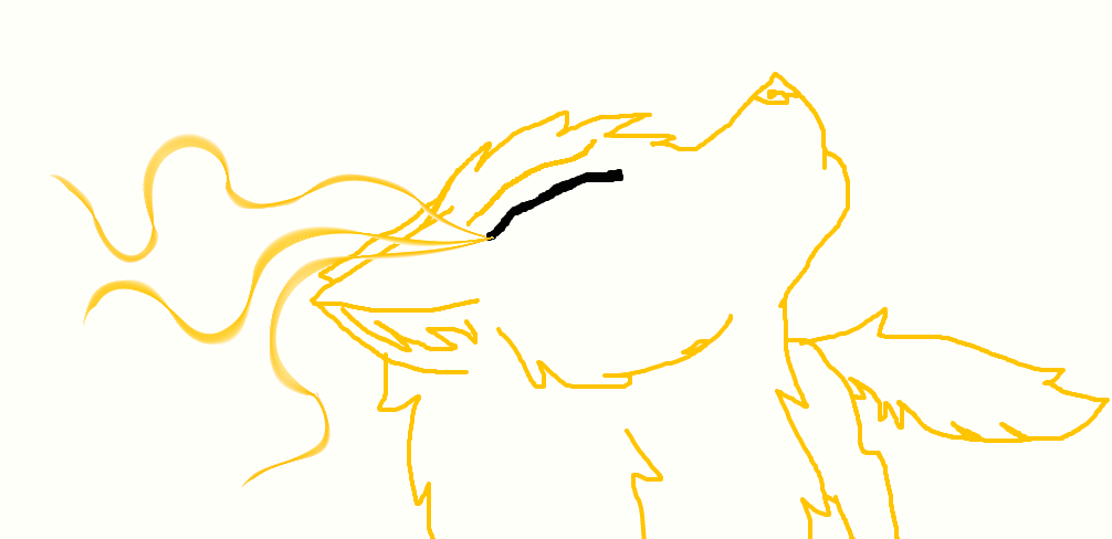 gold wolf by FlameBerryTheWolf