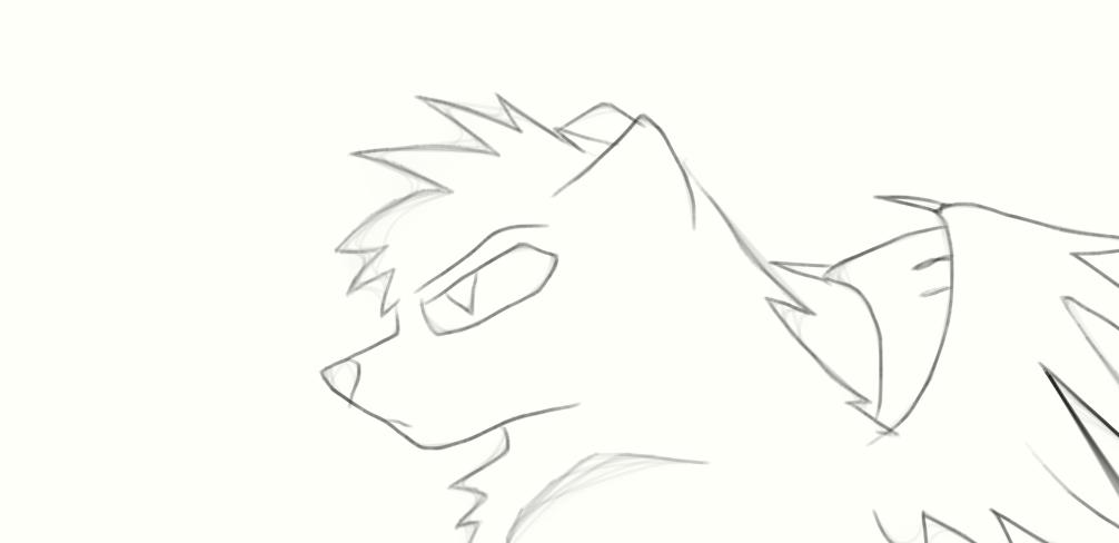 bad wolf by FlameBerryTheWolf