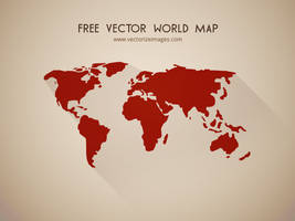 Free Vector World Map by AlsusArt