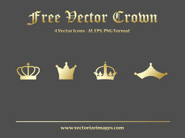 Free Crown Vector (Ai, EPS, PNG Format) by AlsusArt
