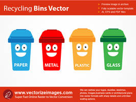 Recycling Containers Vector Art by AlsusArt