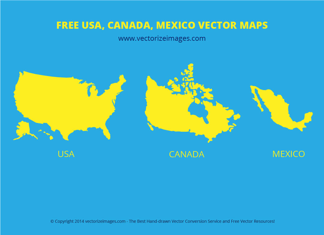 Map Of USA Canada Mexico TomTom Map Maps Globe Globes North - Map of usa and canada images