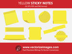 Free Yellow sticky notes vector