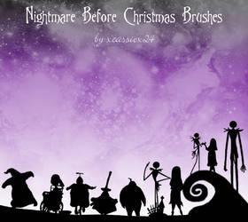 Nightmare B4 Christmas Brushes