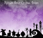 Nightmare B4 Christmas Brushes