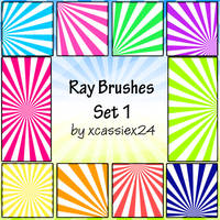 Ray Brushes Set 1 by xCassiex24