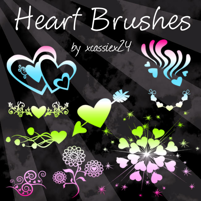 Heart brush set by Cassie