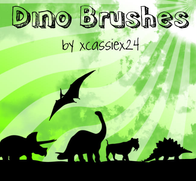 Dino Brushes by xCassiex24
