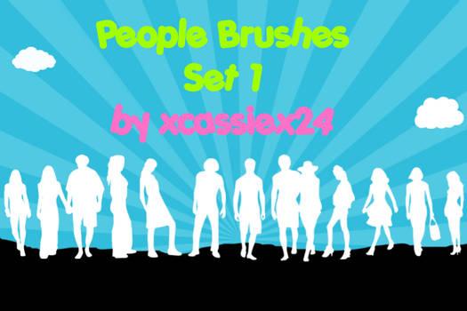 People Brushes Set 1