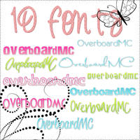 Fonts by OverboardMC