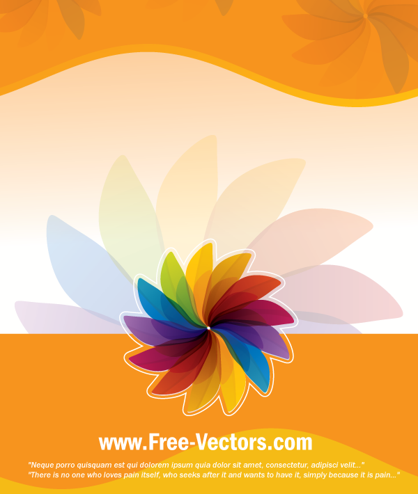 Flower Colorful Vector Background By Free-Vectors On