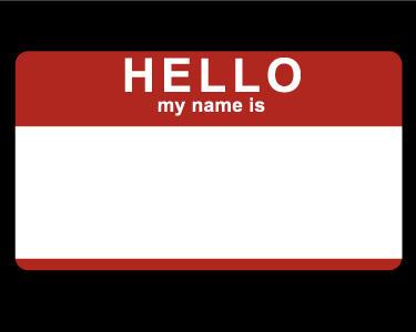 Hello My Name Is +sticker+ by littledarksprite