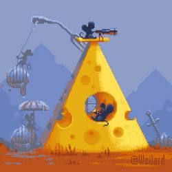 No onions - only cheese! (animated pixel-art 4X)
