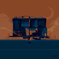 Pixel Dailies - The billboard // 4x version // GIF