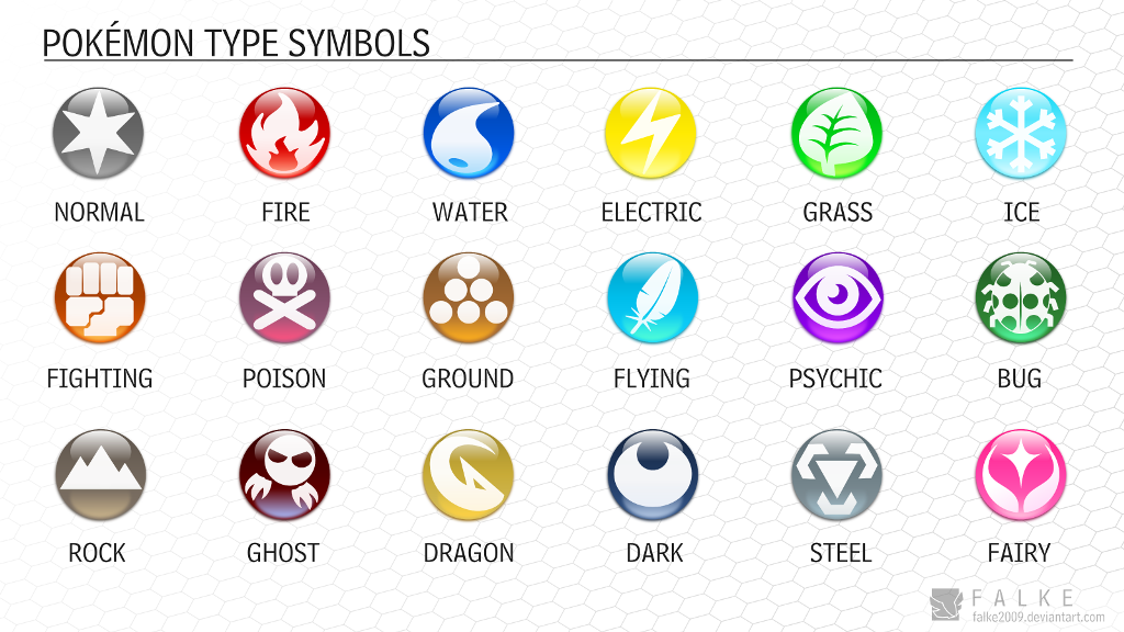Pokemon Type Symbols Downloadable By Falke2009 On Deviantart