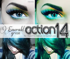 Emerald Green Action by TeamTwi-KikisArt