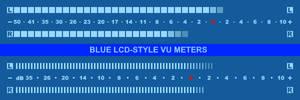 Blue LCD-Style VU Meter skins