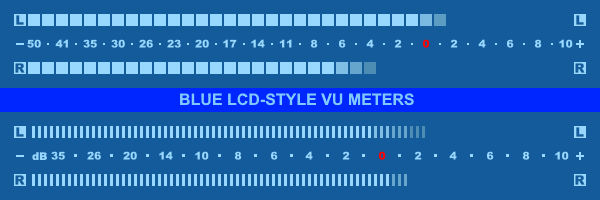 Blue LCD-Style VU Meter skins by tedgo