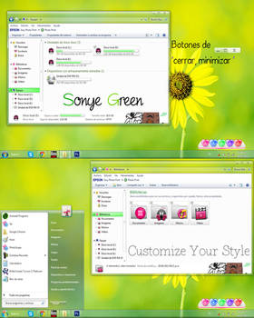 Tema Sonye Green by CustomizeYourStyle