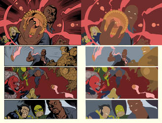 The New Avengers Vol 2 Issue 1 Page 22 flats by coreyh2