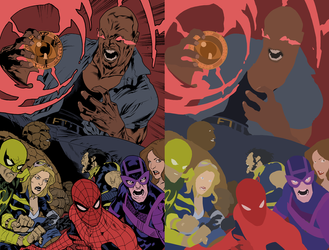 The New Avengers Vol 2 Issue 1 Page 24 flats by coreyh2