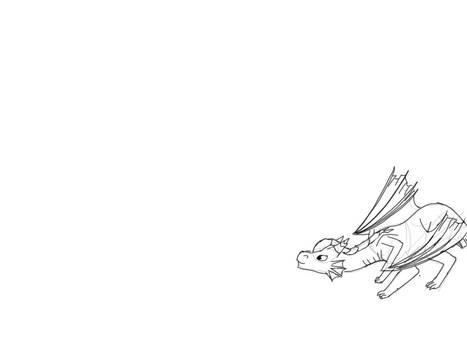 baby dragon Kate jumping